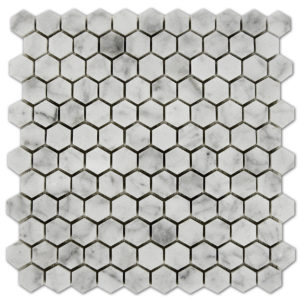 Bianco-Carrara-Mosaic-Hexagon-1x1