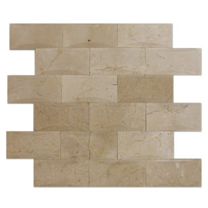 Crema-Marfil-Mosaic-2x4-pillowed