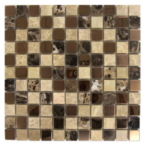 Dark-Emperador-Mosaic-1x1-with-Metal-Mix