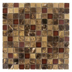 Dark-Emperador-Mosaic-1x1-with-Red-Glass-Mix