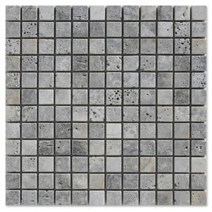 Silver-Travertine-Mosaic-tumbled-1x1