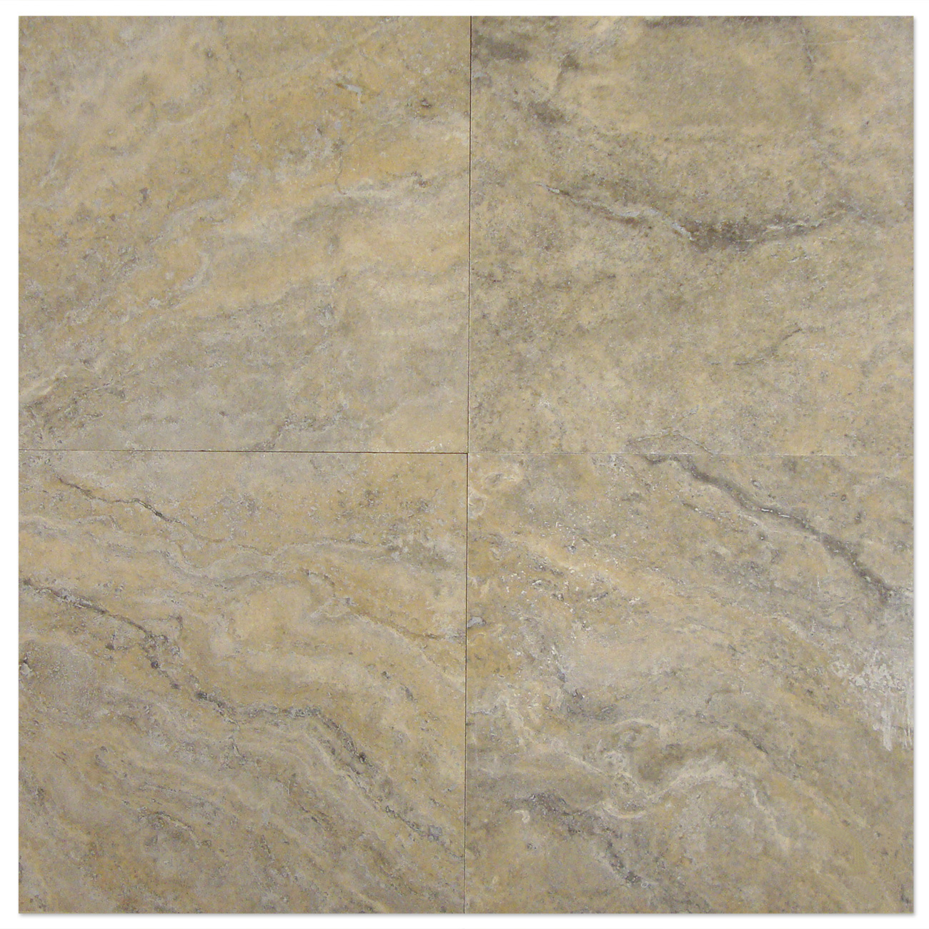 Silver Travertine Filled Honed