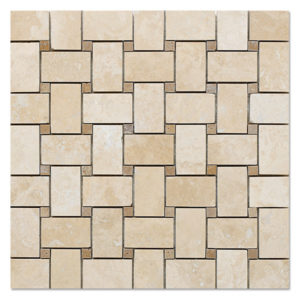 basket-mosaic-white-travertine-with-noce-travertine-dots