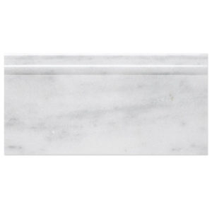 milas white polished base moulding