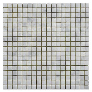 milas white  polished  mosaic half by half