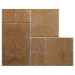 noce-travertine-french-pattern-brushed-cisseled-edge