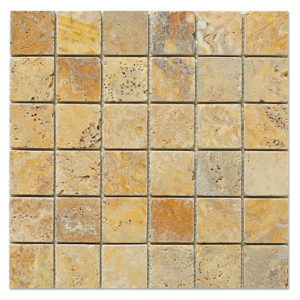yellow-gold-travertine-mosaic-2x2-tumbled