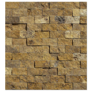 yellow-gold-travertine-mosaic-split-face-1x2