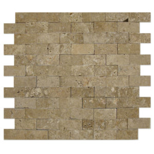 Noce-Travertine-Mosaic-Split-Face-1x2-1