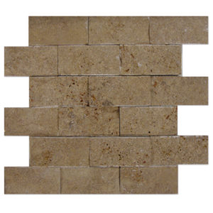 Noce-Travertine-Mosaic-Split-Face-2x4-1