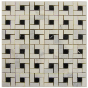 Target-Mosaic-Statuary-Calacatta-with-Black-dots