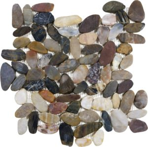 Zen Tonga Wilderness Flat Polished Pebble Mosaic